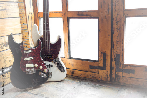 Poster Vintage Electric guitar and bass