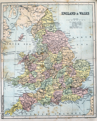 Map of Victorian Era England and Wales | Buy Photos | AP Images