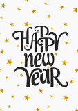 Fototapety Happy New Year Greeting Card Template