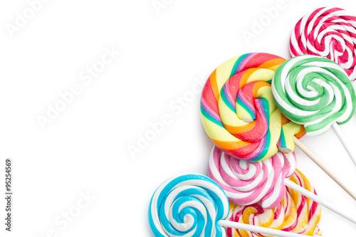 Coloré tourbillon lollipop Poster