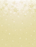 Fototapety Beige background with snowflakes, vector