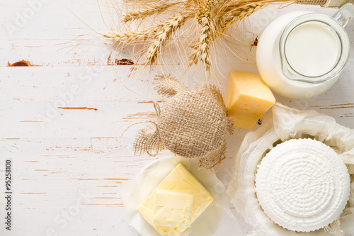 Póster Selection of dairy products