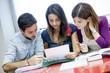 Gruppo di giovani studenti mentre studia