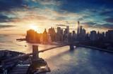 Fototapety New York City - Manhattan after sunset - beautiful cityscape