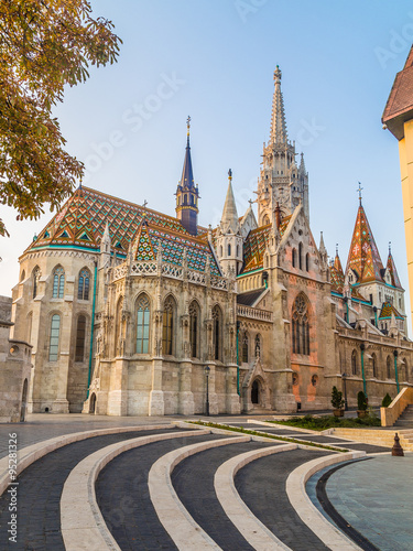 Foto op Canvas Milan Matthias Church in Budapest during the Day