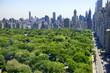 Obrazy na płótnie, fototapety, zdjęcia, fotoobrazy drukowane : Manhattan skyline and Central Park