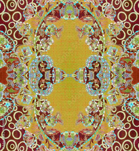 """Восточный узор с текстурой ткани"""" Stock ...: https://en.fotolia.com/id/95296590"""