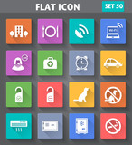 Vector application Hotel Services and Facilities Icons. Set 2 in