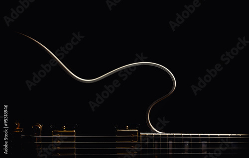 Electric Guitar Abstract Poster