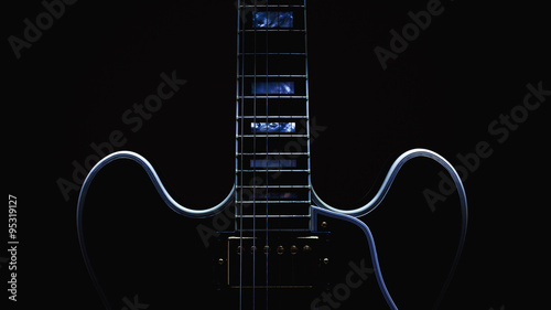 Electric Guitar Abstract - 95319127
