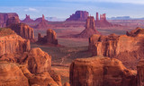 Sunrise at Hunts Mesa viewpoint