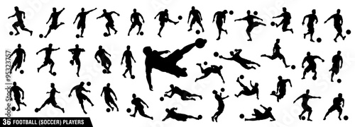 vector set of football (soccer) players 1