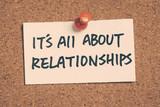 je to všechno o vztazích