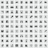 school 100 icons universal set