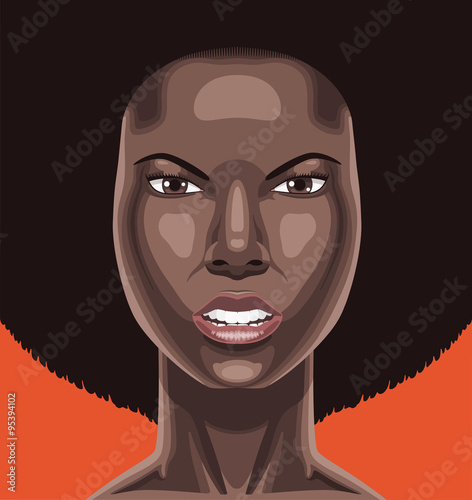"""Face of a black woman angry"" Imagens e vetores de stock ..."