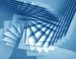 abstract polygonal background blue and white