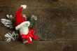 Obrazy na płótnie, fototapety, zdjęcia, fotoobrazy drukowane : Gift money with red ribbon and Santa cap