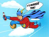 Superhero fat man an...
