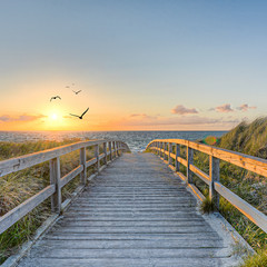 Fototapeta pomost drewniany na plaży
