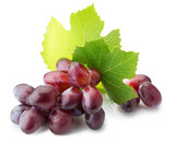 pink grapes isolated on the white background
