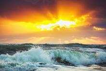 Piękne Chmura nad morzem