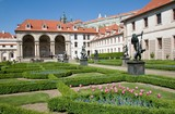 The Wallenstein Garden (Valdstejnska zahrada) with sala terrena in Prague, Czech republic