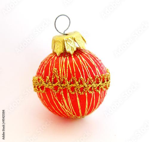 Bolas rojas y doradas de navidad stock photo and - Bolas de navidad doradas ...