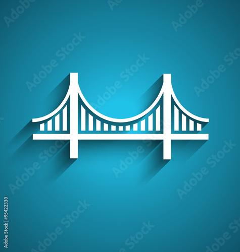 San Francisco bridge vector logo design