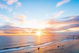 Fototapety Sunrise, sea, seascape. Okinawa, Japan.