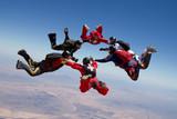 skydiving hvězda týmovou práci