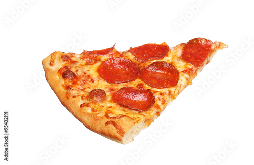 Papiers peints Pizzeria Slice of fresh italian classic original Pepperoni Pizza isolated