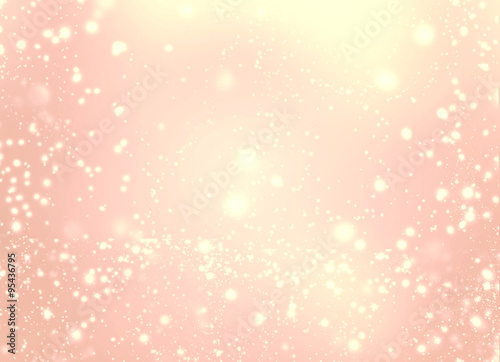 Billede Abstract golden glittering lights and stars - Festive glitter vi