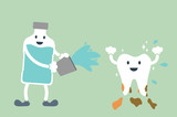 teeth cleaning by mouthwash