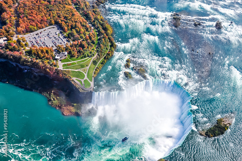 Niagara Falls aerial view Canada Photo by surangaw