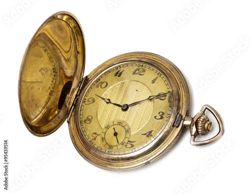 Poster goldene Taschenuhr mit Sprungdeckel um 1900