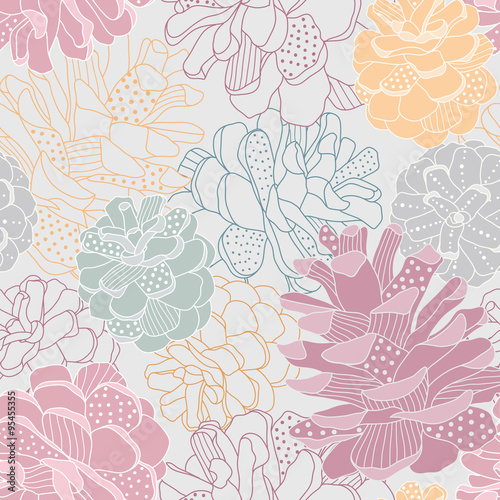 Seamless vector pattern with cones - 95455355
