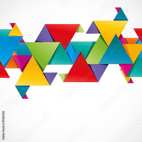 fond abstrait,triangle coloré © M.studio