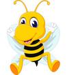 Obrazy na płótnie, fototapety, zdjęcia, fotoobrazy drukowane : cute Bee cartoon flying of illustration