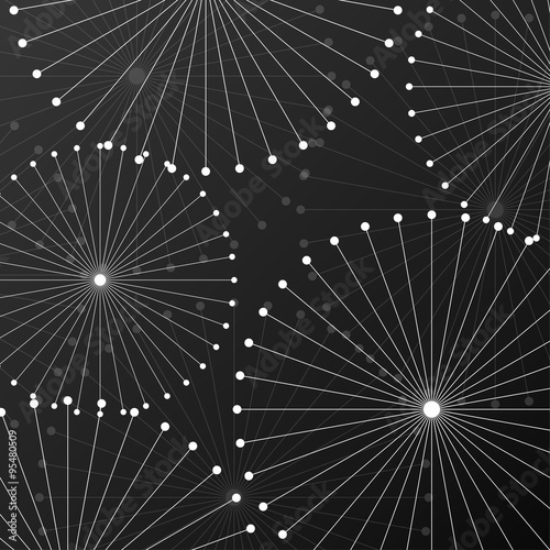 Zdjęcia na płótnie, fototapety, obrazy : Abstract background with dots and lines. Vector Illustration. Eps10