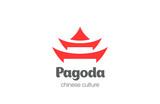 Pagoda Logo design vector template. Chinese Japanese logotype - 95513765