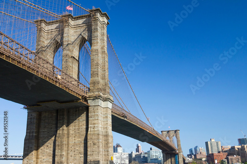 Foto op Plexiglas Brooklyn Bridge Brooklyn Bridge and Skyline