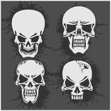 Cartoon skulls design.