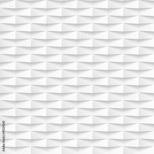 White seamless tile textured panel - 95534361