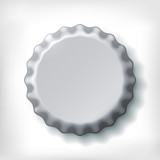 Realistic metallic bottle cap