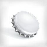 Realistic metallic bottle cap