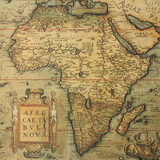 antique map map of Africa  by dutch cartographer Abraham Ortelius