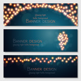 Fototapety Vector banners set.