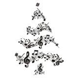 Fototapety musikalischer Weihnachtsbaum