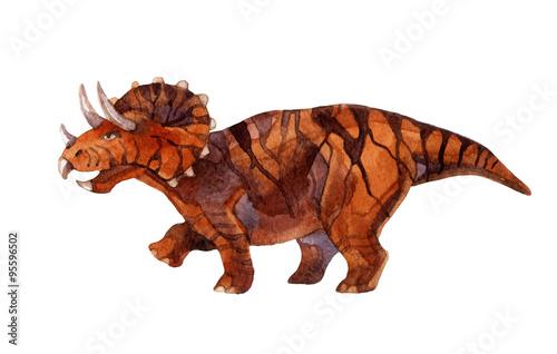 Dinosaur triceratops Poster