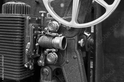 Poster Antique Film Projector III - Antique 8mm Film Projector from the 1920s or 1930s